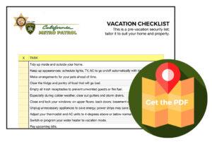 Vacation Security Checklist PDF